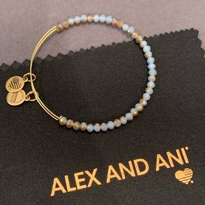 Alex & Ani Beaded Wire Bangle